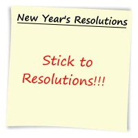 New Year's Resolutions sticky post