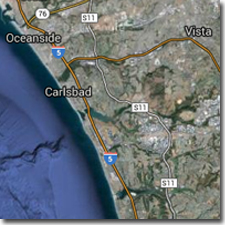 North San Diego County coastal map